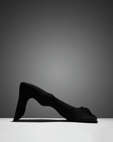 Hiding Photograph - Black Abstract 2 by John Lamb