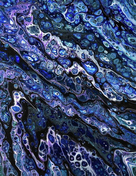 Painting - Black And Blue by Teresa Wilson