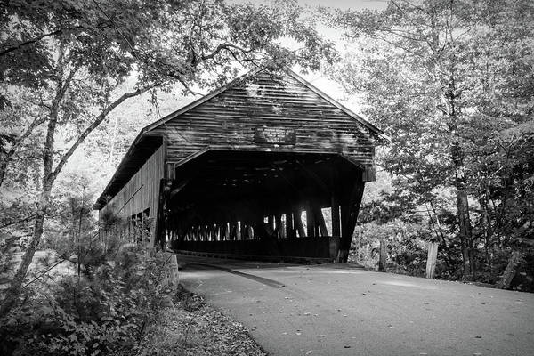Photograph - Black And White Albany Covered Bridge by Jeff Folger