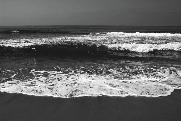 Photograph - Black And White Beach 1- Art By Linda Woods by Linda Woods