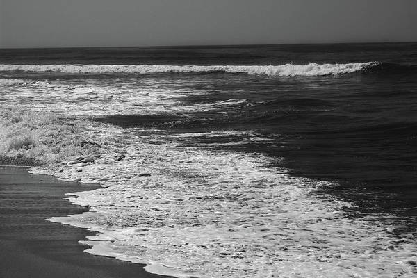 Photograph - Black And White Beach 2- Art By Linda Woods by Linda Woods