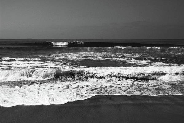 Photograph - Black And White Beach 4- Art By Linda Woods by Linda Woods