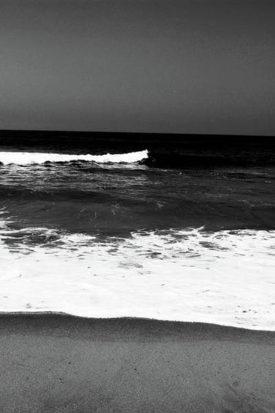 Photograph - Black And White Beach 5- Art By Linda Woods by Linda Woods