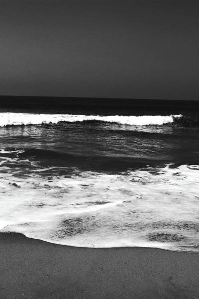Photograph - Black And White Beach 6- Art By Linda Woods by Linda Woods