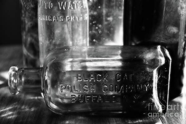 Photograph - Black And White Bottles by Phil Perkins