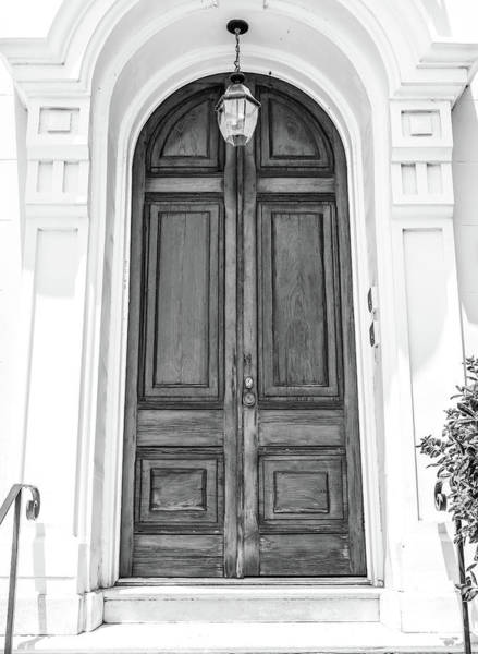 Photograph - Black And White Doors by Dan Sproul