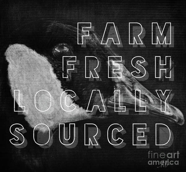 White Goose Drawing - Black And White Goose Farm Fresh by Heather Beauchesne