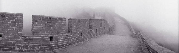 Wall Art - Photograph - Black And White, Great Wall Of China by Panoramic Images