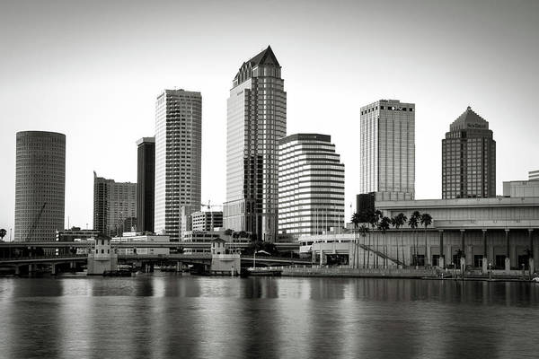 Wall Art - Photograph - Black And White Image Of The Tampa by Sheila Haddad