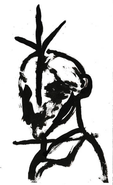 Drawing - Black And White Ink Sketch 1 by Artist Dot