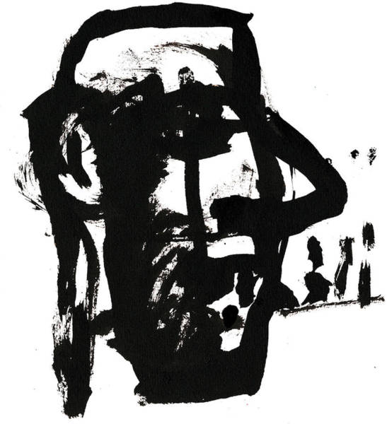 Drawing - Black And White Ink Sketch 10 by Artist Dot