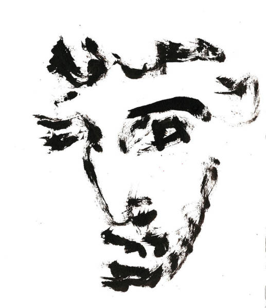 Drawing - Black And White Ink Sketch 12 by Artist Dot