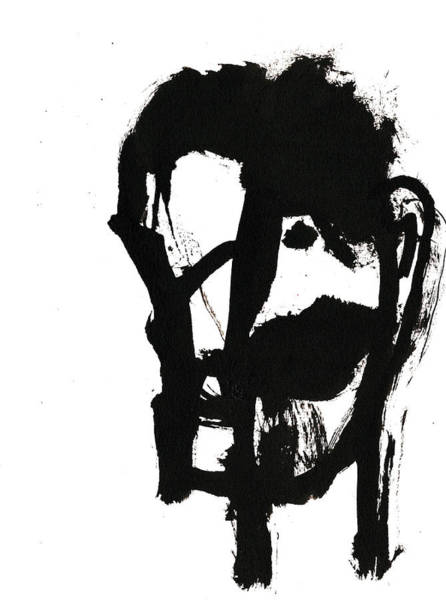Drawing - Black And White Ink Sketch 3 by Artist Dot