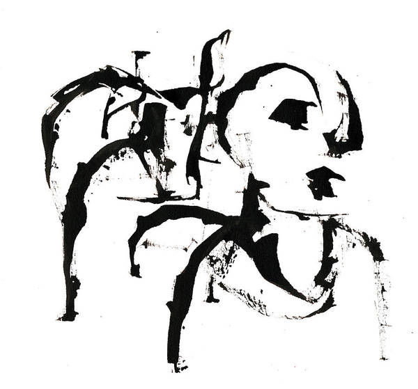 Drawing - Black And White Ink Sketch 4 by Artist Dot