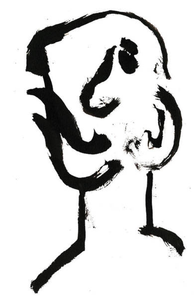 Drawing - Black And White Ink Sketch 5 by Artist Dot