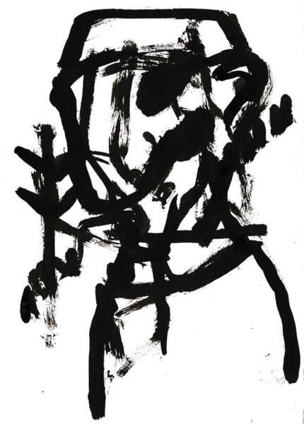 Drawing - Black And White Ink Sketch 6 by Artist Dot