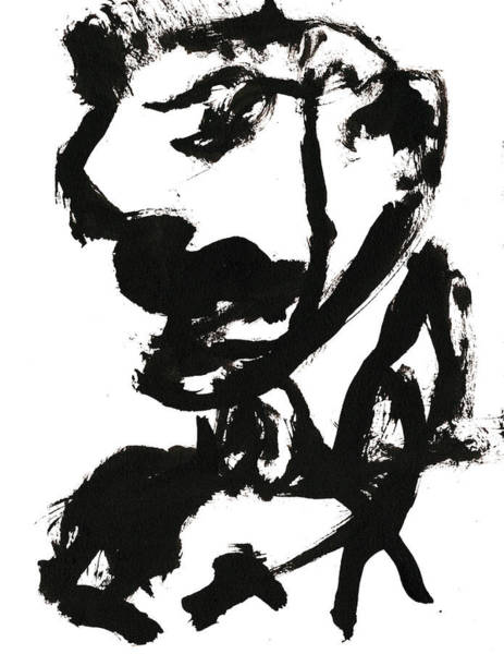 Drawing - Black And White Ink Sketch 8 by Artist Dot