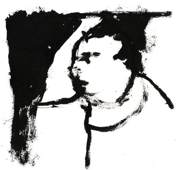 Drawing - Black And White Ink Sketch 9 by Artist Dot