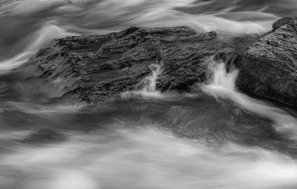 Photograph - Black And White Little River Flow by Dan Sproul