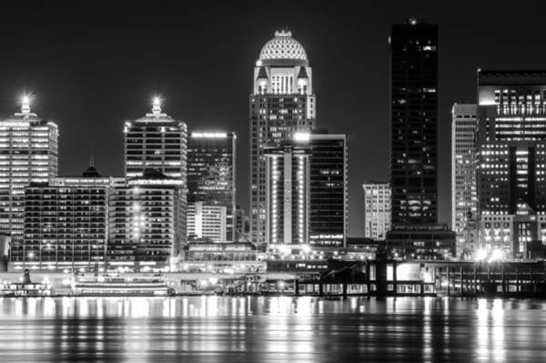Photograph - Black And White Louisville At Night by Dan Sproul