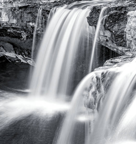 Photograph - Black And White Ludlow Falls by Dan Sproul