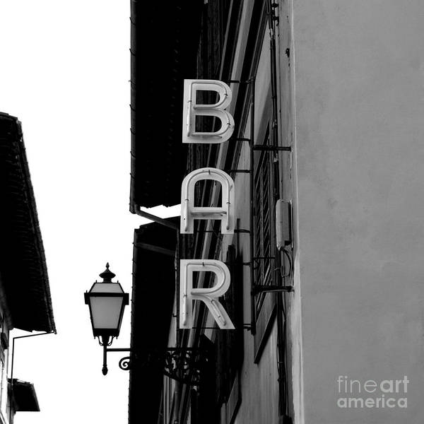 Wall Art - Photograph - Black And White Neon Lights Spelling by Robin Nieuwenkamp