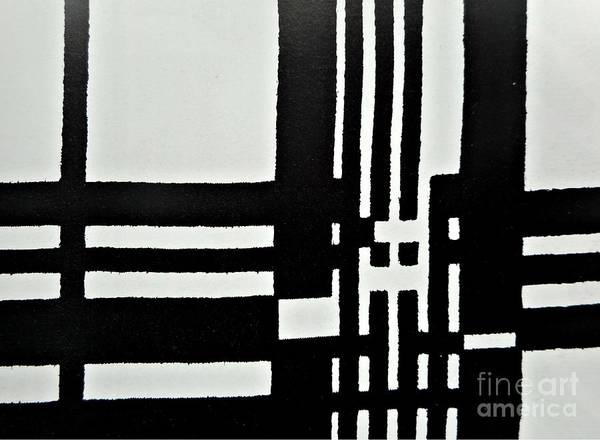 Painting - Black And White Pattern-1 by Katerina Stamatelos