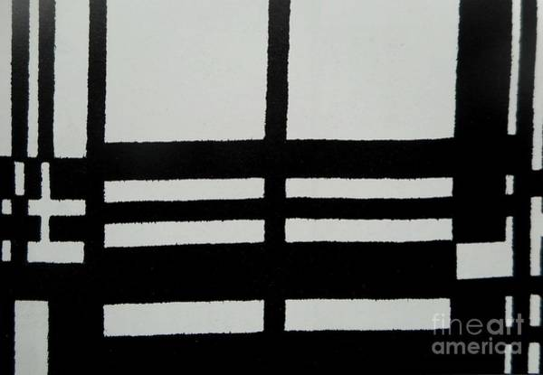 Painting - Black And White Pattern-2 by Katerina Stamatelos