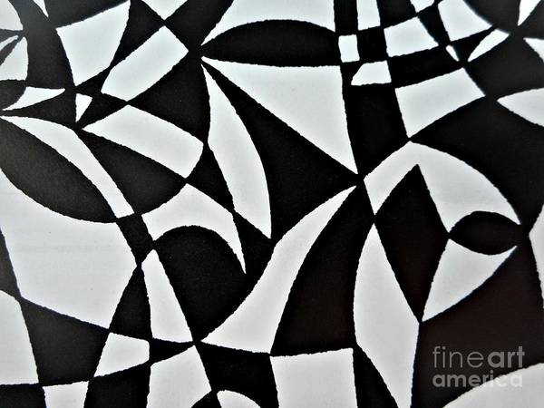 Painting - Black And White Pattern-6 by Katerina Stamatelos