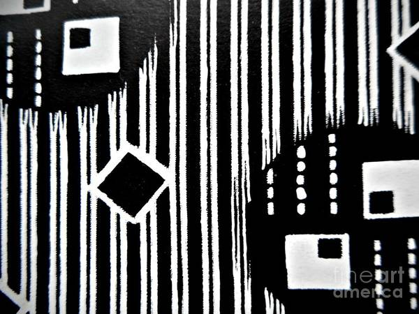 Painting - Black And White Pattern-8 by Katerina Stamatelos
