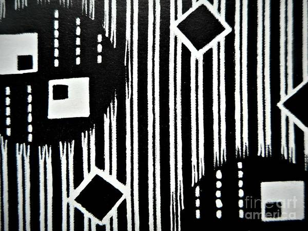 Painting - Black And White Pattern-9 by Katerina Stamatelos