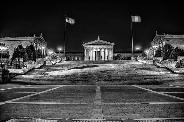 Wall Art - Photograph - Black And White Philadelphia - The Rocky Steps by Bill Cannon