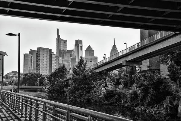 Photograph - Black And White Philadelphia - Under South Street Bridge by Bill Cannon
