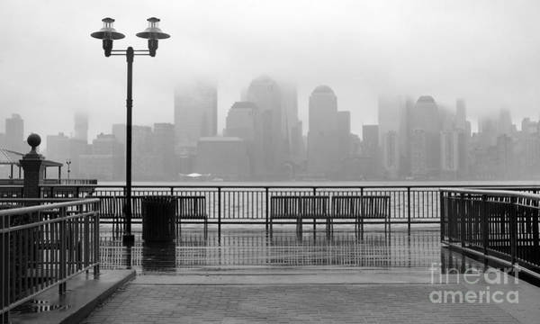 Midtown Photograph - Black And White Photo Of New York City by Maria Sbytova