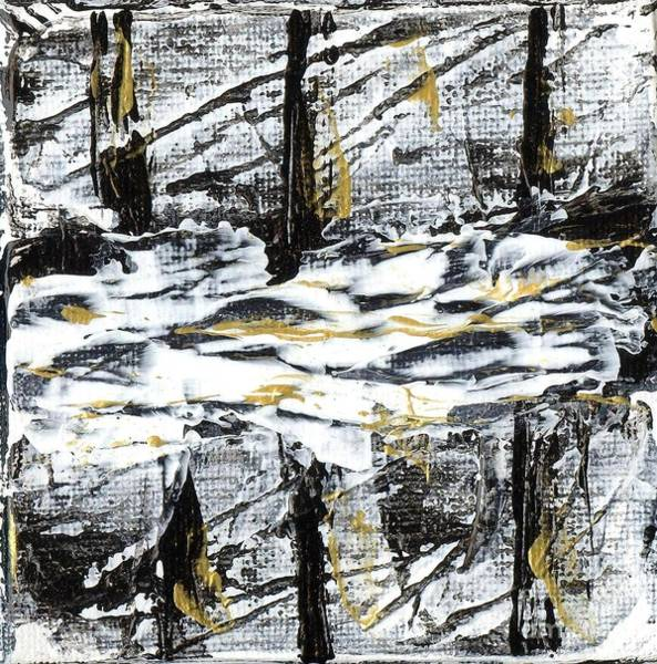 Painting - Black And White Ribbons by Angelika GAIGL