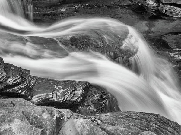 Photograph - Black And White Rushing Water by Louis Dallara