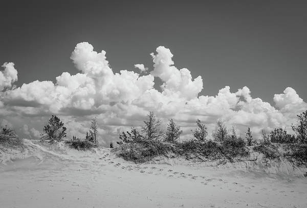 Photograph - Black And White Sand Dune Hike by Dan Sproul