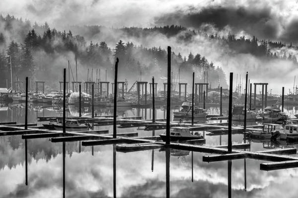 Wall Art - Photograph - Black And White Scenic Of Auke Bay by John Hyde
