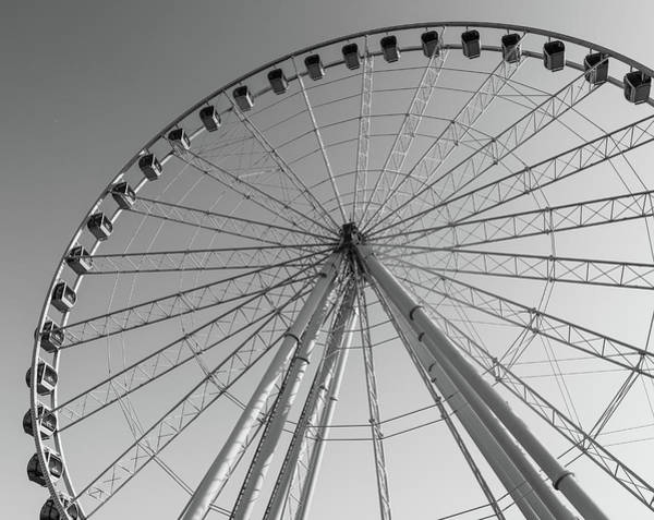 Photograph - Black And White Skywheel by Dan Sproul