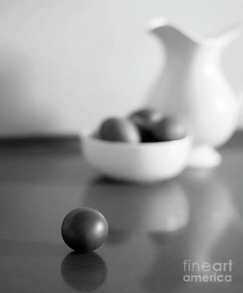 Wall Art - Photograph - Black And White Still Life With Brown Eggs And White Pitcher.foc by Rita Kapitulski
