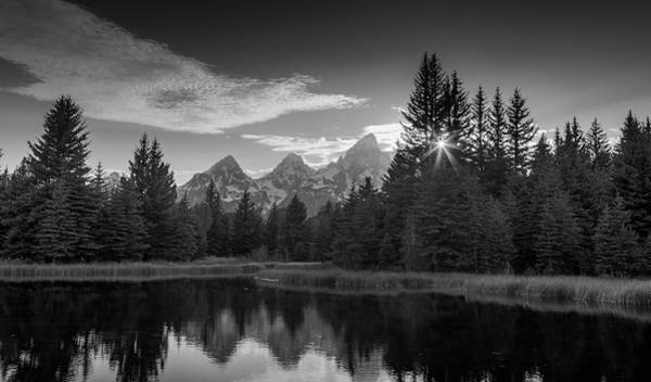 Photograph - Black And White Sunstar Schwabachers Landing by Dan Sproul