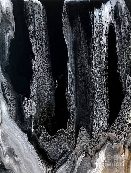 Painting - Black And White Swipe Abstract by Sheila Wenzel