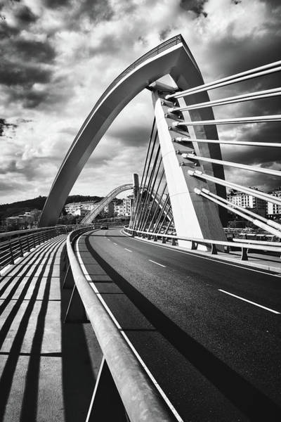 Photograph - Black And White Version Of The Millennium Bridge by Fine Art Photography Prints By Eduardo Accorinti