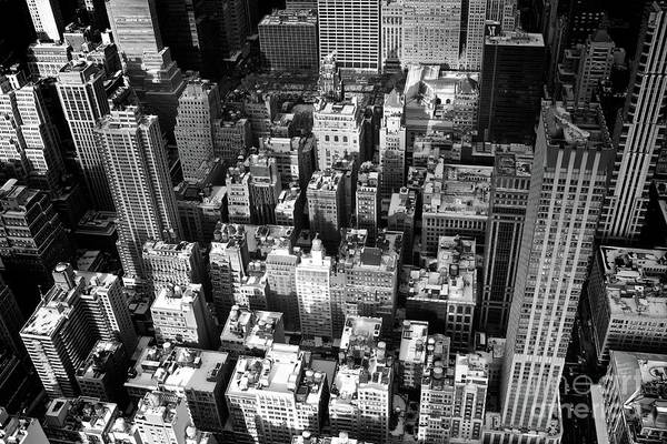 Wall Art - Photograph - Black And White View Of City, New York by Adam Martin