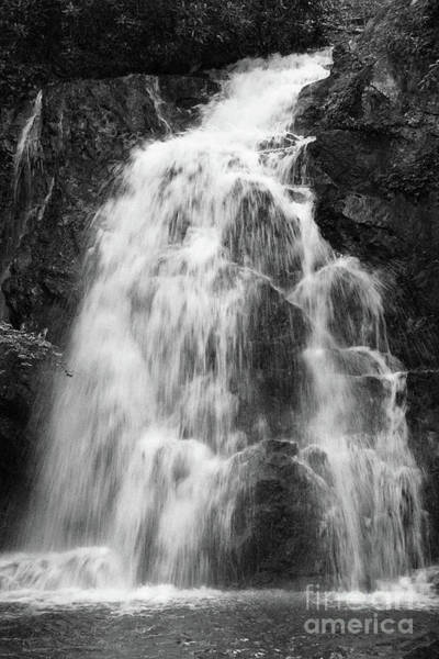 Photograph - Black And White Waterfall by Phil Perkins