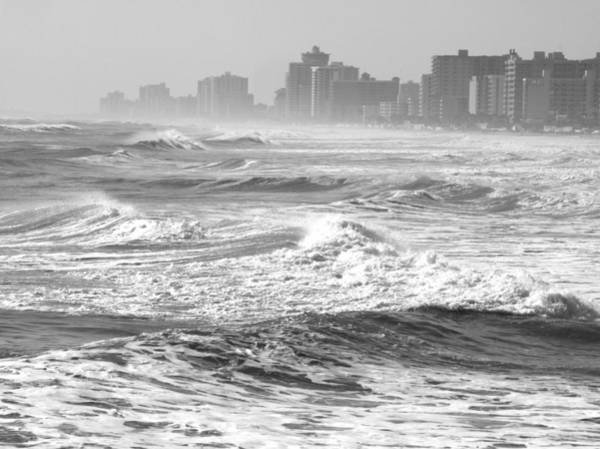 Photograph - Black And White Waves by Emery Graham