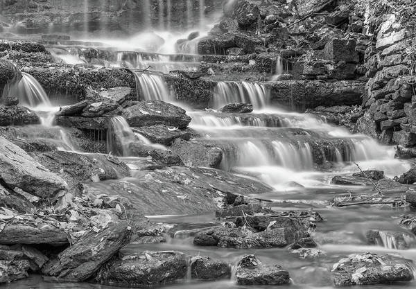 Photograph - Black And White West Milton Falls In Autumn by Dan Sproul
