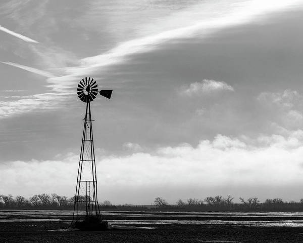 Photograph - Black And White Windmill 02 by Rob Graham