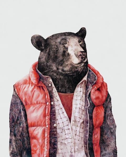 Animal Painting - Black Bear by Animal Crew