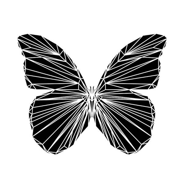 Wall Art - Digital Art - Black Butterfly by Naxart Studio
